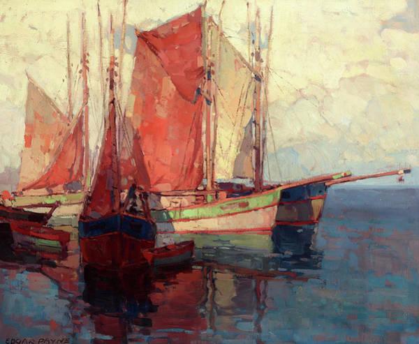Wall Art - Painting - Fishing Boats by Edgar Payne