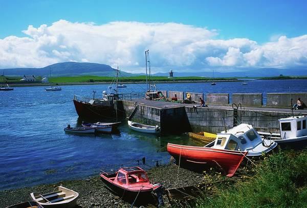 Moor Photograph - Fishing Boats In County Sligo, Rosses by Designpics