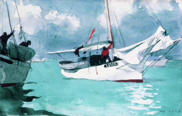West Bay Painting - Fishing Boats, Key West - Digital Remastered Edition by Winslow Homer