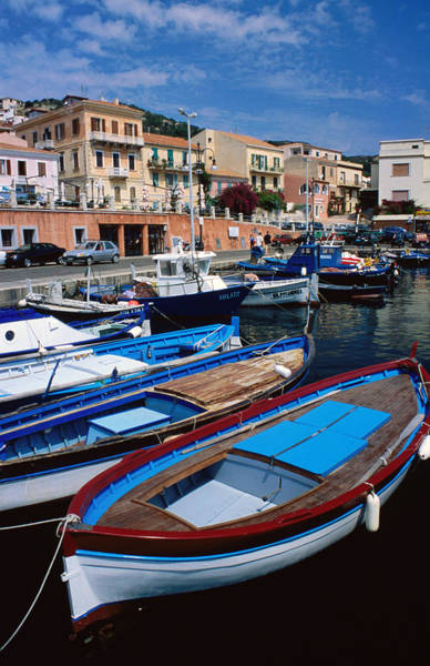 Sardinia Photograph - Fishing Boats Moored At La Maddalena by Dallas Stribley