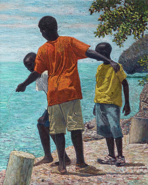 Painting - Fishing Buddies by Ritchie Eyma