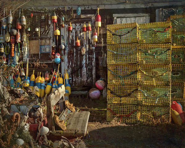 Wall Art - Photograph - Fishing Buoys - Rockport, Ma. by Joann Vitali