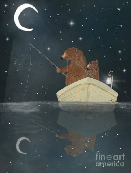 Wall Art - Painting - Fishing For Stars by Bri Buckley