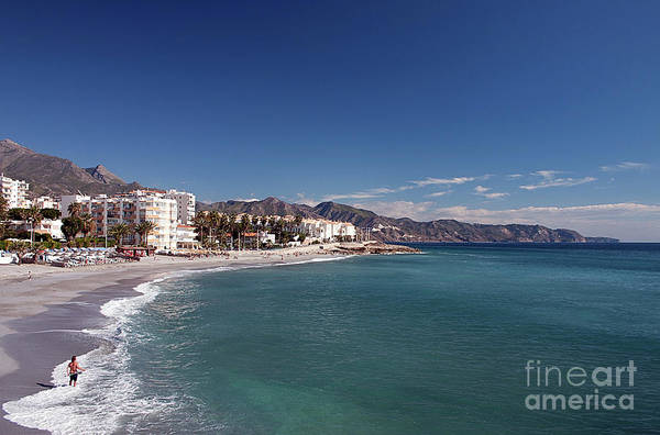 Wall Art - Photograph - Fishing From Torrecilla Beach, Nerja by John Edwards