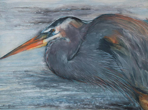 Painting - Fishing Heron by Jani Freimann