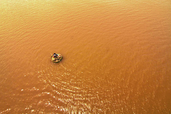 Kerala Photograph - Fishing In River by Gulfu Photography