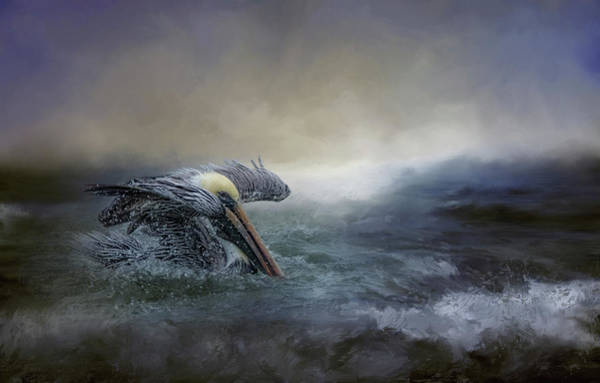 Photograph - Fishing In The Storm by Kelley Parker