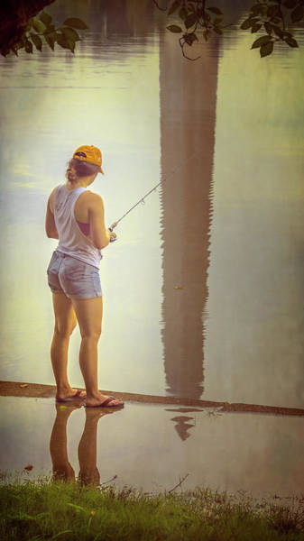 Photograph - Fishing In Washington Dc II by Joan Carroll