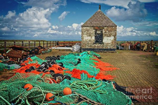 Photograph - Fishing Nets At Maryport by Martyn Arnold