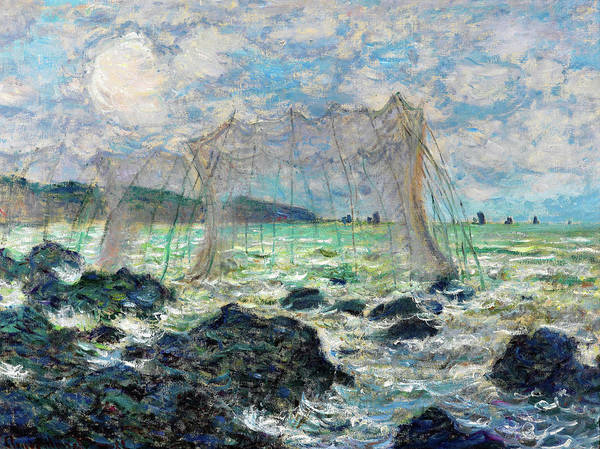 Wall Art - Painting - Fishing Nets At Pourville - Digital Remastered Edition by Claude Monet