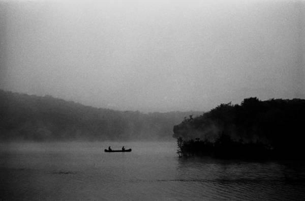 Canoe Photograph - Fishing On A Foggy Lake by I C Rapoport