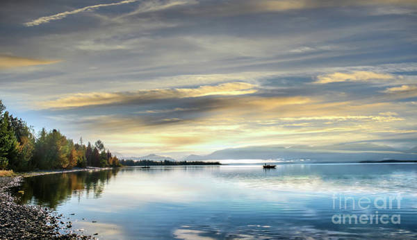 Photograph - Fishing On An Alaskan Lake On The Kenai Peninsula At Sunrise by Patrick Wolf