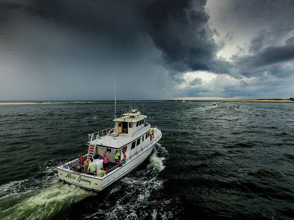 Photograph - Fishing On Miss Jenny Rain Or Shine by Michael Thomas