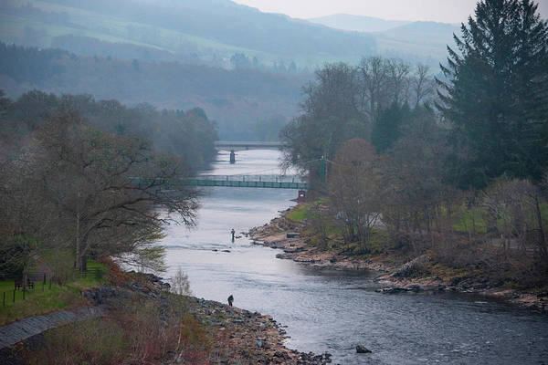 Photograph - Fishing On The River Tummel - Pitlochry Scotland by Bill Cannon