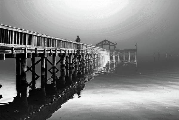 Photograph - Fishing Pier In Leesylvania State Park by Bill Jonscher