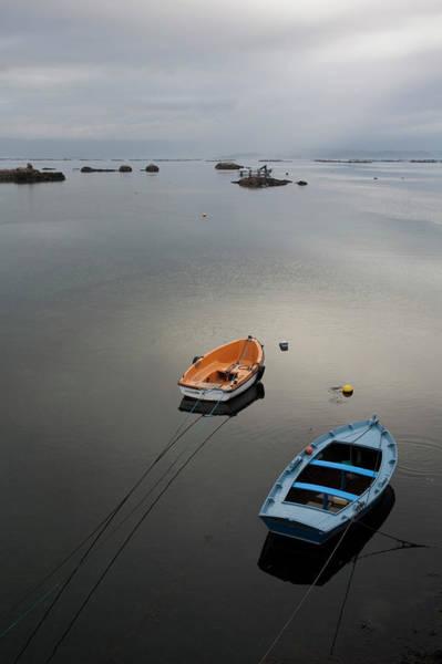 Rowboat Photograph - Fishing Rowboats by © Santiago Urquijo