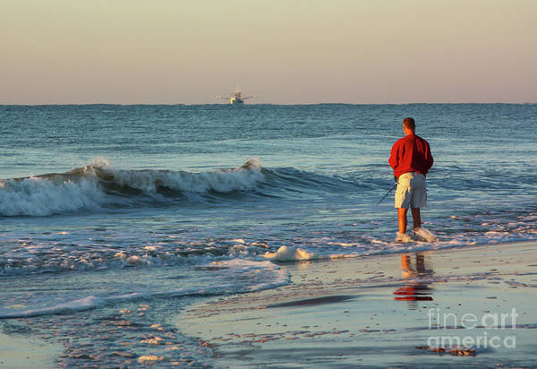 Photograph - Fishing The Surf by Kevin McCarthy
