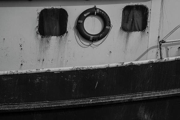 Photograph - Fishing Troller Details Bw by Susan Candelario