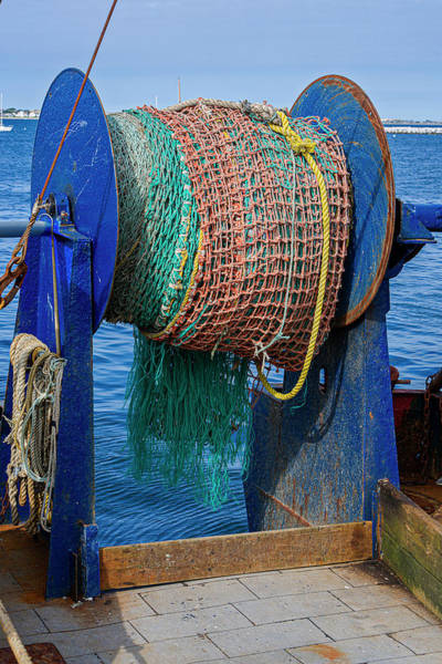 Photograph - Fishing Troller Nets by Susan Candelario