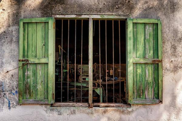 Photograph - Fishing Village Window by Tom Singleton