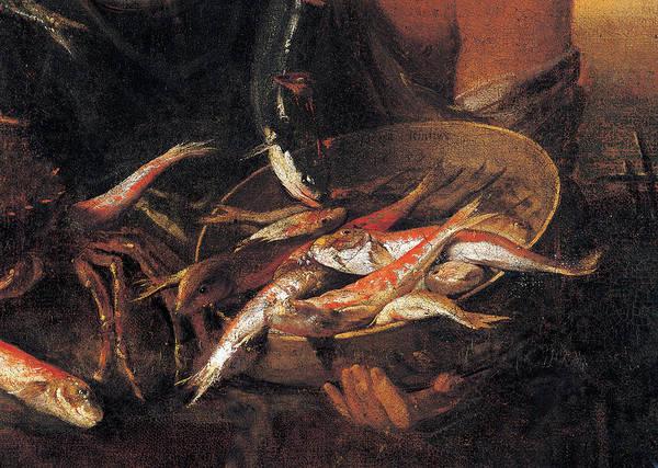 Painting - Fishmonger, By Heintz Joseph Il Giovane by Mondadori Portfolio