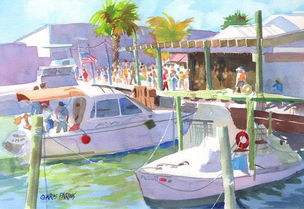 Wall Art - Painting - Fishtown Festival by Kris Parins