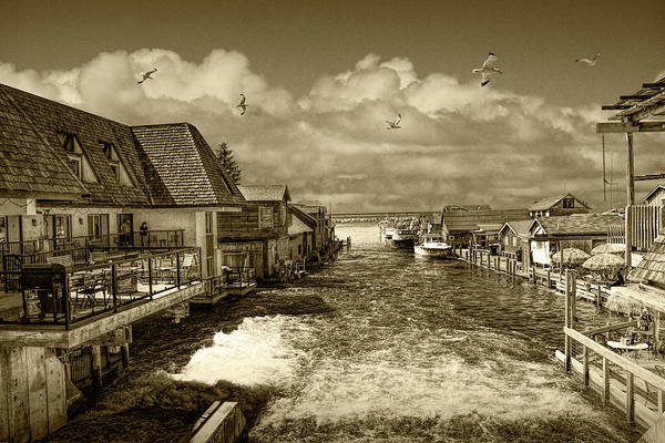 Wall Art - Photograph - Fishtown In Leland Michigan In Sepia Tone by Randall Nyhof