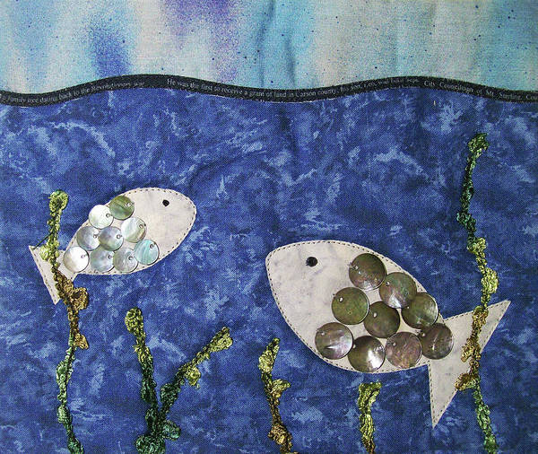 Tapestry - Textile - Fishy Fishy by Pam Geisel