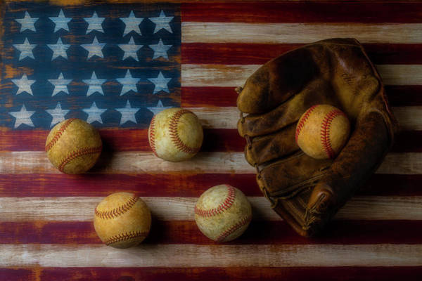 Wall Art - Photograph - Five Balls And Mitt by Garry Gay