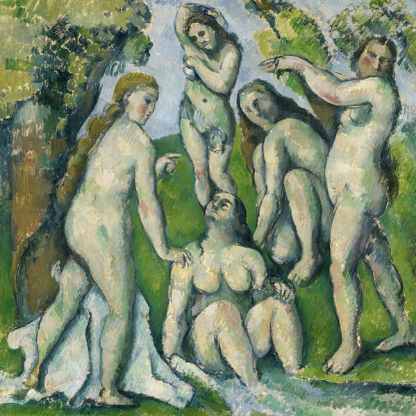 Wall Art - Painting - Five Bathers, Circa 1878 by Paul Cezanne