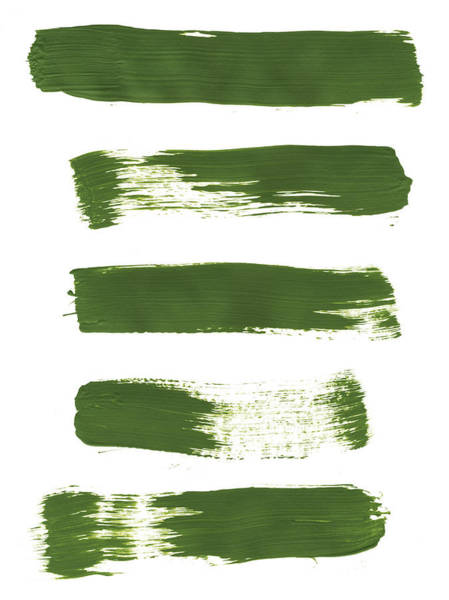 Texture Photograph - Five Bright Green Paint Strokes by Kevinruss