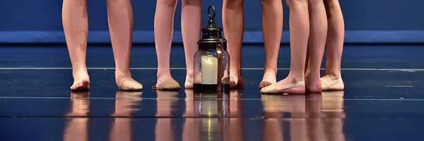 Photograph - Five Dancers Lamp Reflection by Jerry Sodorff