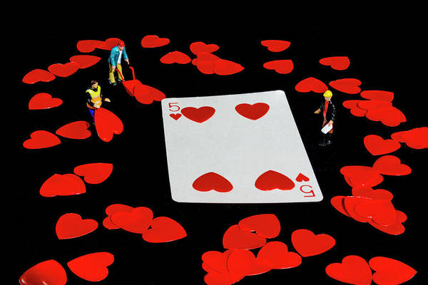 Photograph - Five Of Hearts by Steve Purnell