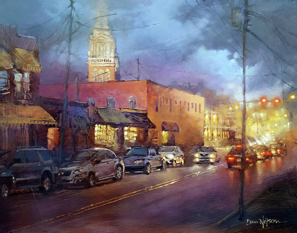 Wall Art - Painting - Five Points Twilight by Dan Nelson