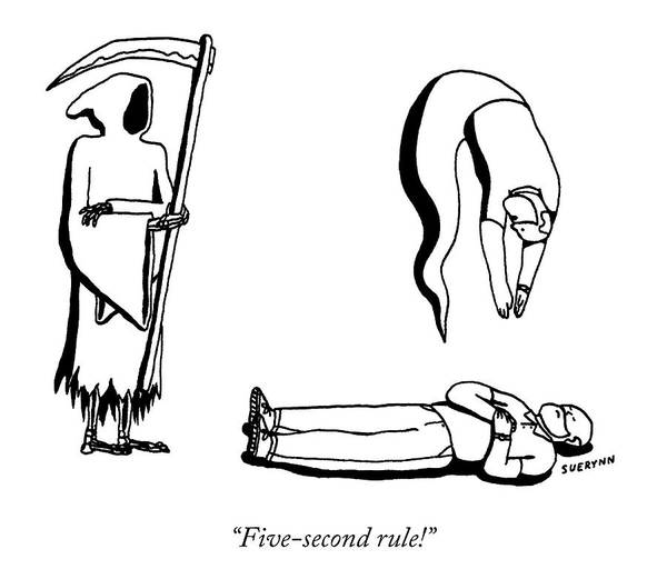 Ghosts Drawing - Five Second Rule by Suerynn Lee
