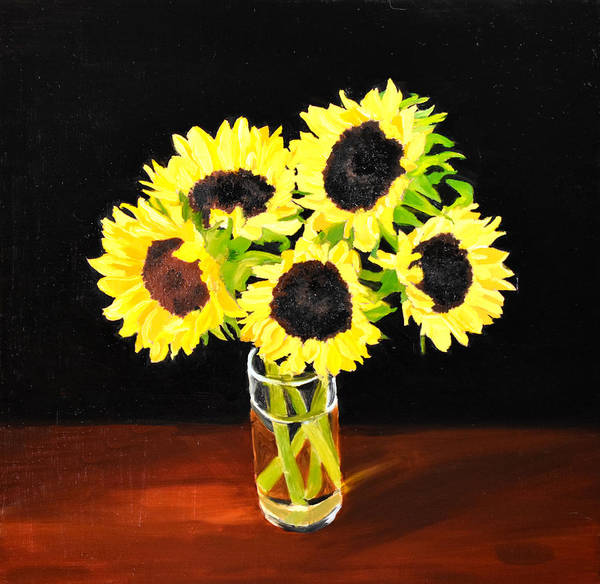 Painting - Five Sunflowers by Emily Warren