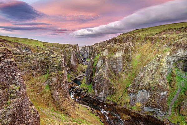 Photograph - Fjadrargljufur Canyon At Sunrise In The South-east Of Iceland by Pierre Leclerc Photography