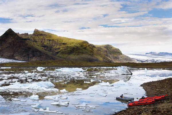 Powerboat Photograph - Fjallsarlon Glacier Lagoon #2 by RicardMN Photography