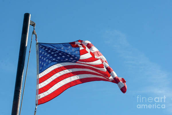Photograph - Flag In The Wind by Ruth H Curtis