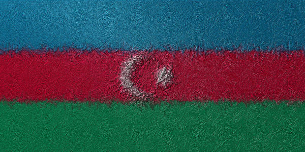 Digital Art - Flag Of Azerbaijan by Jeff Iverson