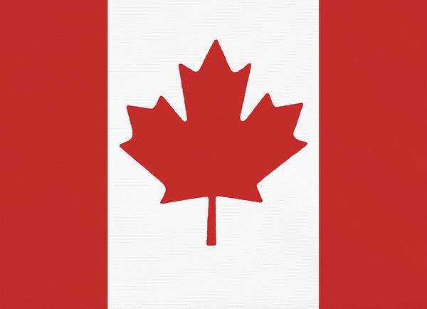 Full Frame Photograph - Flag Of Canada, Full Frame by Jim Ballard