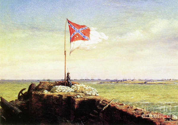 Wall Art - Painting - Flag Of Fort Sumter by Conrad Wise Chapman