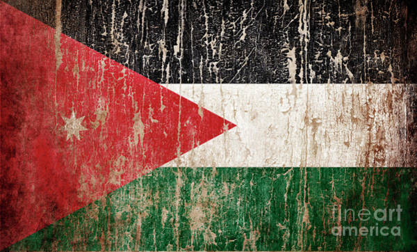 Wall Art - Photograph - Flag Of Jordan by Jelena Jovanovic