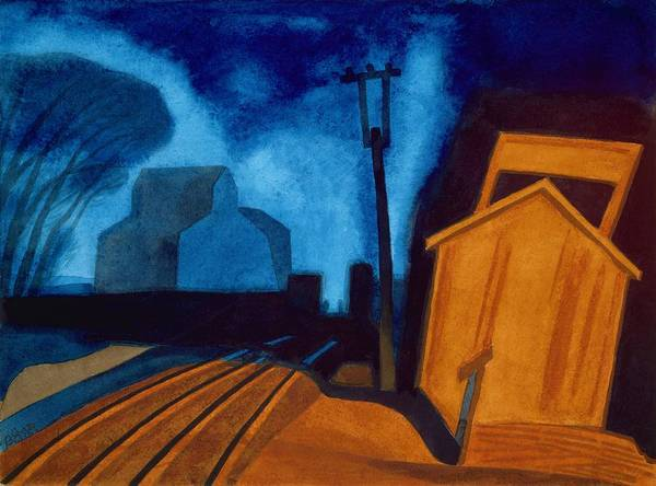 Wall Art - Painting - Flag Station, Elizabeth, New Jersey - Digital Remastered Edition by Oscar Bluemner