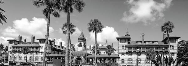 Flagler Photograph - Flagler College Bw by Norman Johnson