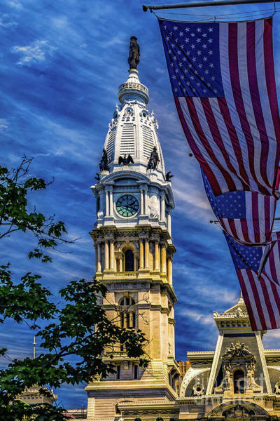 Photograph - Flags At City Hall by Nick Zelinsky