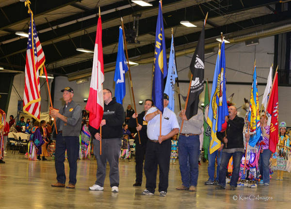 Photograph - Flags At Grand Entry - Powwow Photo by Kae Cheatham