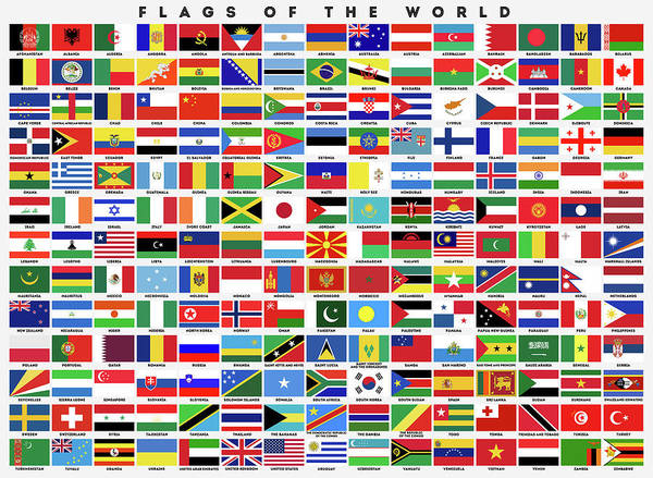 Wall Art - Digital Art - Flags Of The World by Zapista Zapista