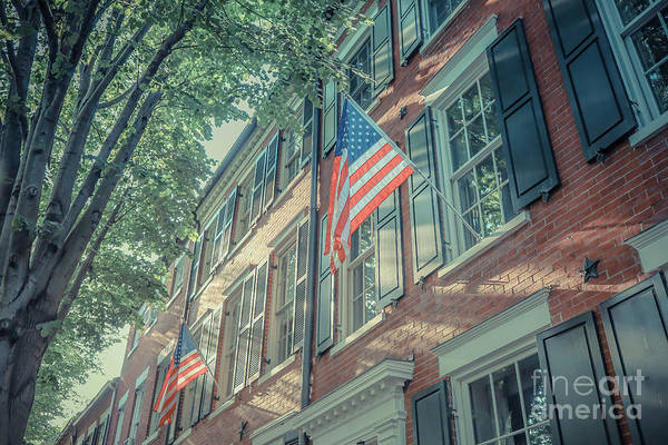 Wall Art - Photograph - Flags Old Town Alexandria by Edward Fielding