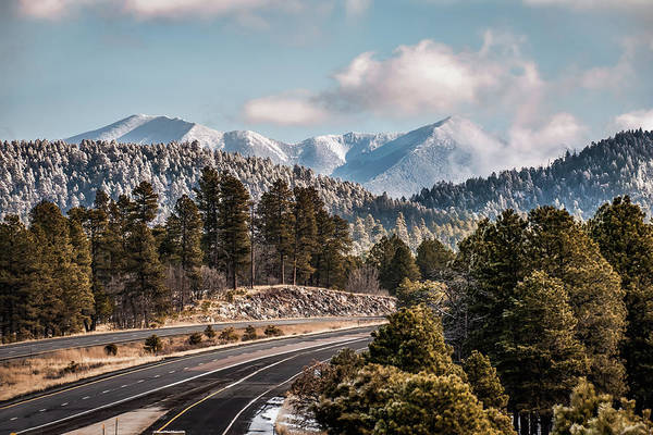 Photograph - Flagstaff Arizona Frosty Mountain Landscape by Gregory Ballos